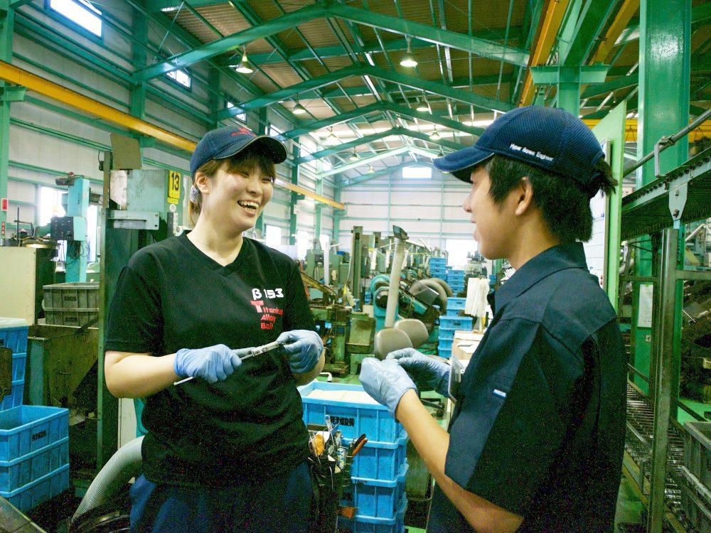 生産現場へ女性を積極的に採用