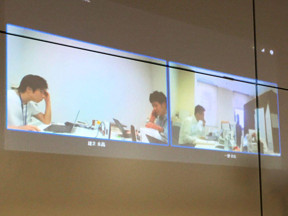 「Skype」で各拠点をつなげて会議が可能